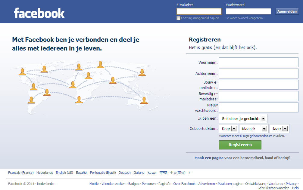 U bent de activa van Facebook