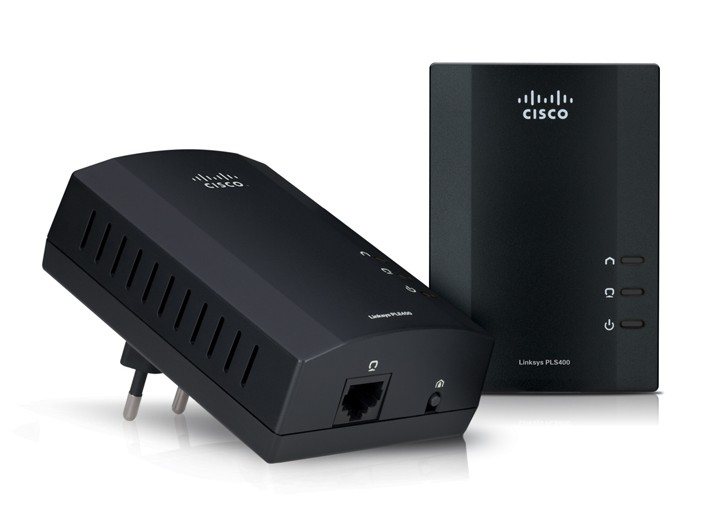 Cisco Linksys PLSK400 Powerline AV 4-Port Network Adapter Kit