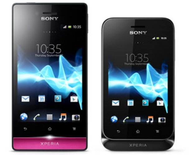 Duo Xperia smartphones met Android 4.0