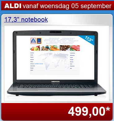 Aldi Belgi met desktopvervangende laptop