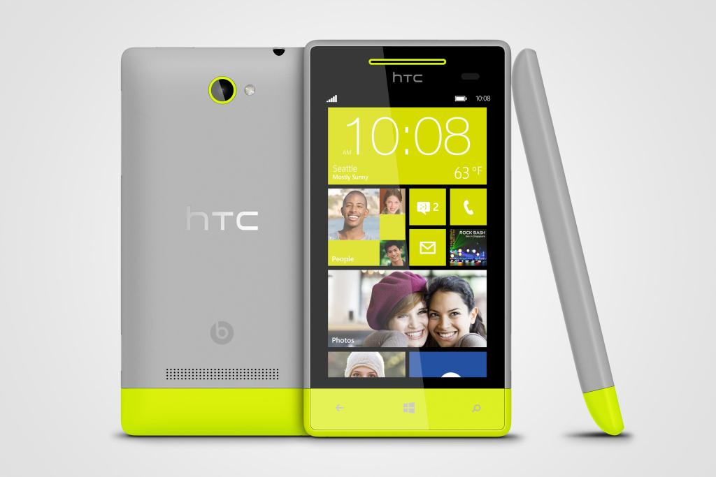 Hippe HTC smartphone aangedreven door Windows Phone 8