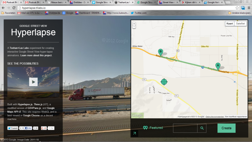 Google Street View beelden vormen een hyperlapse-video