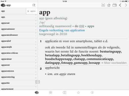 Dikke Van Dale iOS app